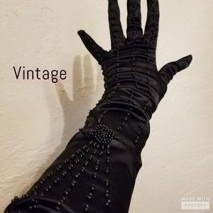 Vintage Stretch beaded gloves